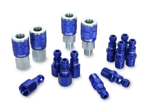 Legacy A72458C ColorConnex  Automotive 14 piece Coupler and Plug Kit Blue Type C (Air Compressor Fittings compare prices)