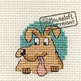 Mouseloft Mini Cross Stitch Kit Dog Friendly Planet Collection