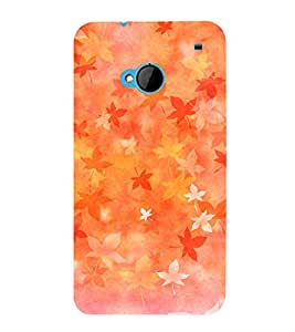 printtech Abstract Leaf Design Back Case Cover for HTC M7
