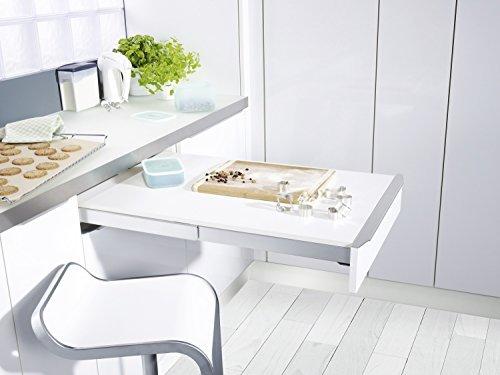 GedoTec® Tavolo estensibile tavolo allungabile Borchia topaflex | Tavolo Estratto con Front fisso | Tavolo Allungabile della maniglia per il profondo min. 500mm | auszieh lunghezza 810mm | portata: 30kg | Marchio di qualità per la vostra casa