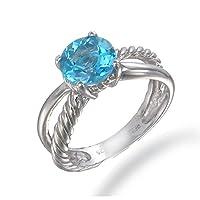 Vir Jewels Sterling Silver Swiss Blue Topaz Ring (1.75 CT) by Vir Jewels