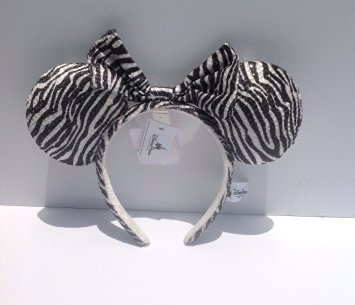 Disney Minnie Mouse Ears Zebra Print Headband (Disney Minnie Ears Headband)