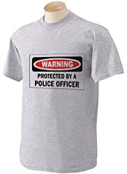 PROTECTED BY A POLICE OFFICER Youth T-Shirt (for Kids) ASH GREY SMALL