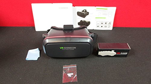 VR Shinecon V3 3rd Generation 3D Viewer Glasses + Remote Controller,Virtual Reality Movies Games Helmet Google Cardboard Upgraded 4 IOS iPhone 6 7 6s 7s plus,Android Samsung Galaxy S5 S6 S7 Note 4 5
