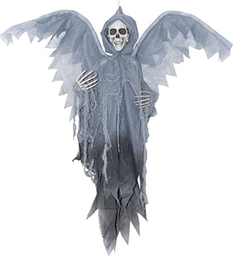 Morris Costumes Halloween Outfit Winged Reaper Grey 3ft
