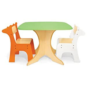 P Kolino Safari Collection Tree Table With Giraffe And