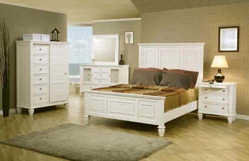 Sandy Beach White King Bed By Coaster Furniture