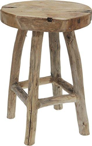 Hocker-Sitzhocker-Teakholz-Teak-Beistelltisch-Couchtisch-Tisch-42-cm