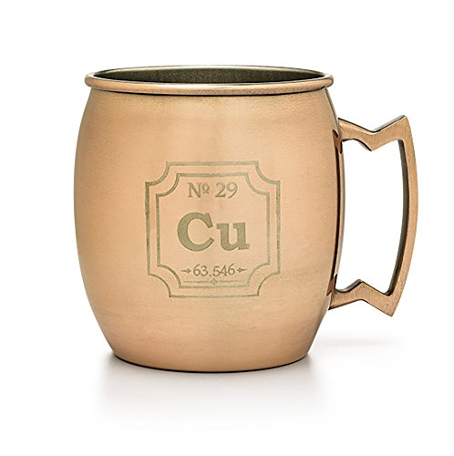 ThinkGeek Periodic Copper Mug 16 Ounce Moscow Mule Cocktail