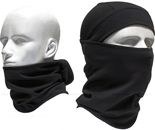 Dhana Style Open-Close Sports Balaclava Stretch Face Mask Neck warmer -Elastic Fabric- For Motorcycle, Ski, Cycling, Camping, Trekking, Paintball- Ultimate Thermal Retention & Moisture Wicking Type:OF (Face Mask Open Face compare prices)