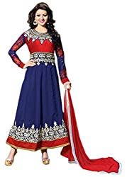 Culture Fab Blue Georgette Anarkali Suit