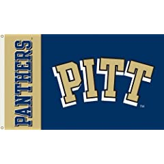 NCAA Pittsburgh Panthers 3-by-5 Foot Flag with Grommets by BSI