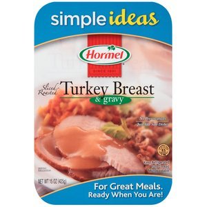 HORMEL ROASTED TURKEY BREAST PREPARED FOOD SLICED WITH GRAVY 15 OZ PACK OF 2 (Hormel Canned Turkey compare prices)