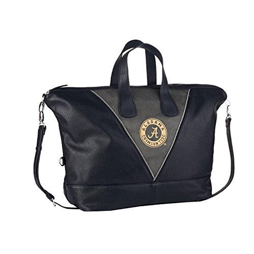 NCAA Alabama Crimson Tide Women's Uptown Handbag, One Size, Black