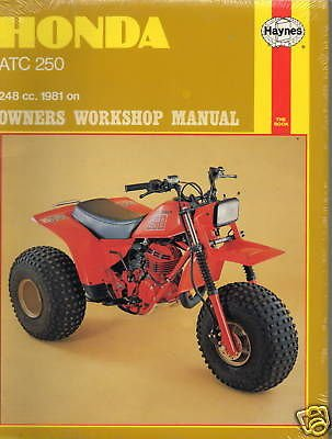 1981 Honda Atv 3 Wheeler Atc 250 Service Manual New front-406414
