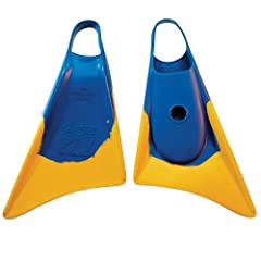 Churchill Makapuu Bodyboard Swim Fins Blue Gold by Churchill