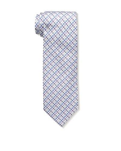 Bruno Piatelli Men's Printed Silk Tie, Purple/Blue