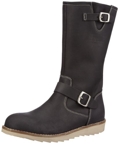HIP 44000 Black Fat Nubuck Boots Girls Black Schwarz (Black 10FN-0000) Size: 9 (27 EU)