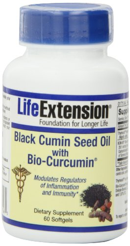 Life Extension Black Cumin Seed Oil with Bio-Curcumin Mineral Supplements, 60 Count