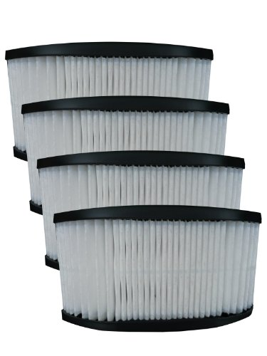 (4) 40130050 Hoover Fold Away Turbo Power 3100 Hepa Pleated Filter, Upright, Bageless, Widepath Vacuum Cleaners, 43615090, U5172900, U5175900, front-247957