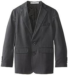 Perry Ellis Big Boys\' 2 Button Nail Head Jacket, Dark Grey, 18
