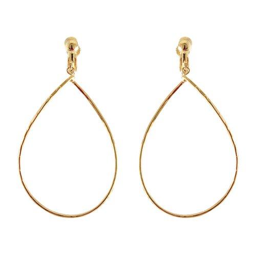 [Vantine] VINGTAINE wave ring hoop earrings E40-1 gold
