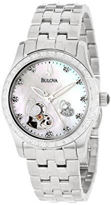 buy Bulova Women'S 96R122 Diamond Accented Automatic Watch