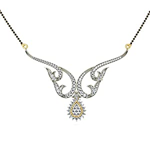 Certified 18K Yellow Gold 1.31 cttw White-Diamond (FG | VS) mangalsutra
