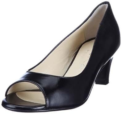 Evita Shoes Peeptoe 41L01X2110, Damen Pumps, Schwarz (schwarz), EU 35