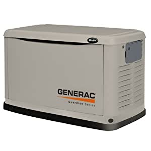 Generac 6245 8,000 Watt Air-Cooled Steel Enclosure Liquid Propane/Natural Gas Powered Standby Generator (CARB Compliant) without a Transfer Switch