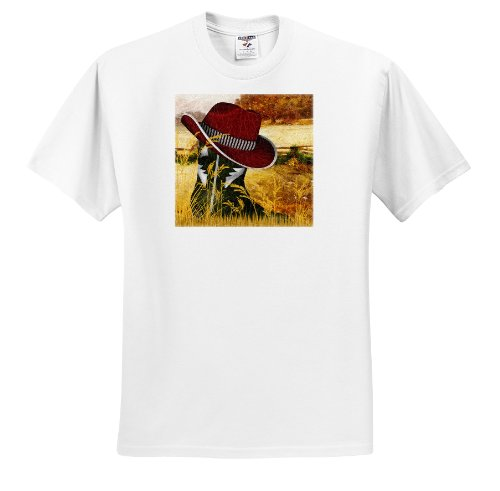 Doreen Erhardt Western - Western green cowboy boot with a red cowboy hat for Christmas. - T-Shirts