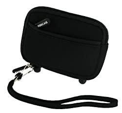 rooCASE (Jet Black) Neoprene Sleeve Carrying Case for Casio Exilim EX-H5 Digital Camera