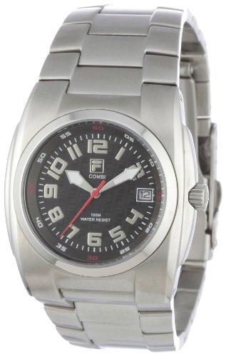 Fila FA0500-81 - Reloj analógico de cuarzo para hombre con correa de acero inoxidable, color gris