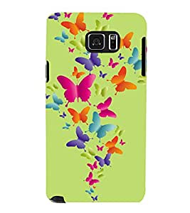 printtech Butterfly Back Case Cover for Samsung Galaxy Note 5 N920