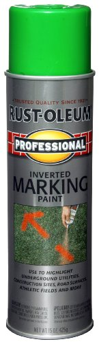 Rust-Oleum 207464 Professional Inverted Marking Spray Paint, Fluorescent Green, 15-Ounce (Fluorescent Green Spray Paint compare prices)