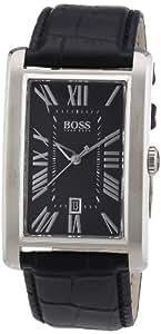 Hugo Boss - 1512708 - Montre Homme - Quartz Analogique - Cadran - Bracelet Cuir Noir
