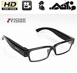 ZVision Full HD 720P Glasses Eyewear Spectacles Spy Camera Full Frame Hidden Cam Video Camcorder