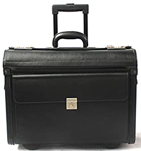 Vinyl Wheeled Laptop Pilot Case Briefcase Hand Luggage Business Flight Bag Cabin