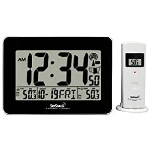 Amazon Com Skyscan Atomic Digital Clock With Indoor And