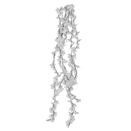 Guirlande fleur artificielle 5 branches lierre fleur for Decoration murale suspendue