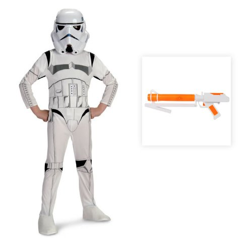 Star Wars: Stormtrooper Child Costume with Blaster - Medium (8-10)