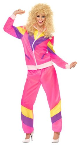Smiffy's Women's 80's Height Of Fashion Shell Suit Costume - 3 Sizes