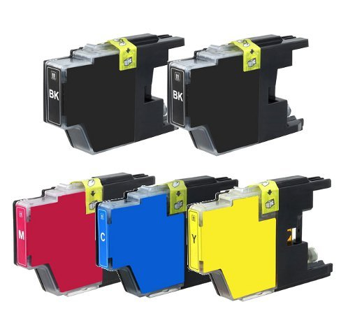 Brother Compatible LC75 (LC-75) Set Of 5 High