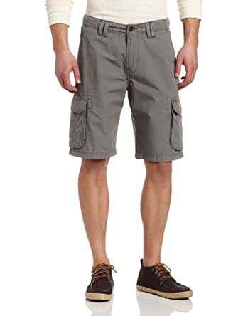 Lucky Brand Men's Ripstop Cargo Short, Charcoal, 29