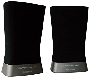 SuperTooth Disco Twin Bluetooth Stereo Speaker for Smartphones - Retail Packaging - Black