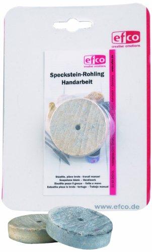 EFCO Speckstein-Rohling, rund, mit Loch, neutral
