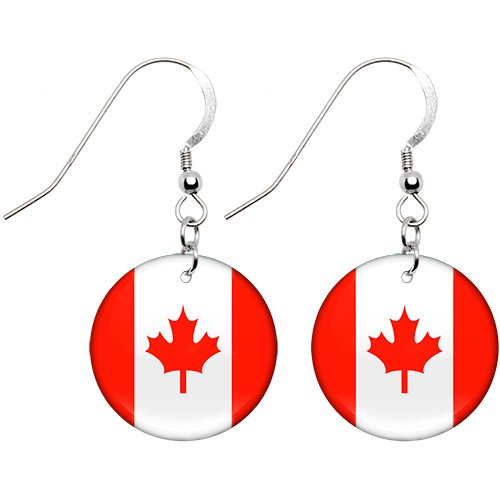 Canada Flag Earrings