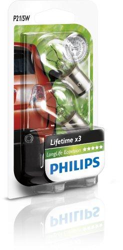 Philips 12499LECOB2 Long Life Ecovision Lampadina Per Luce Segnaletica, P21 5 W, Confezione Da 2