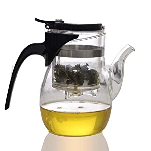 600ml SAMA B06 fashion chinese convenient piaoyi bei office glass tea cup teapot from SAMA