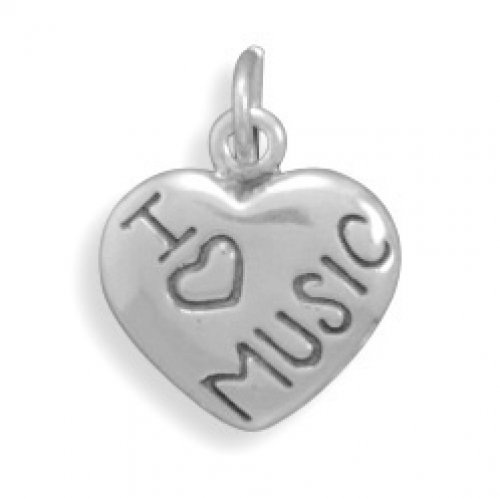 MMA Silver - I Love MUSIC Charm